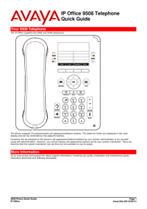 9508 Quick Reference Guide