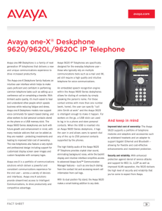 IP Office 9600 Series Telephones Fact sheet