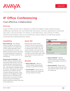 IP Office Conferencing Applications Fact Sheet R6.0.