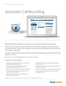 Ring Central Call Recording