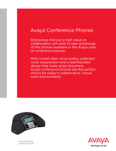 avaya conference phones - brochure uc4732