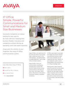 avaya ip office customer brochure